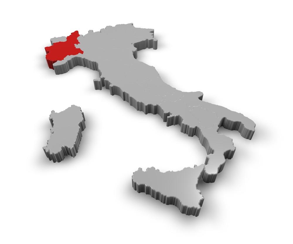 Piemonte kaart
