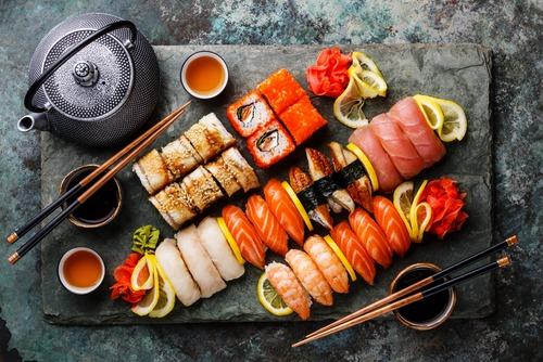 Sushi en wijn