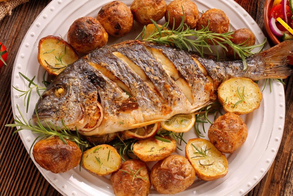 Vers gebakken vis