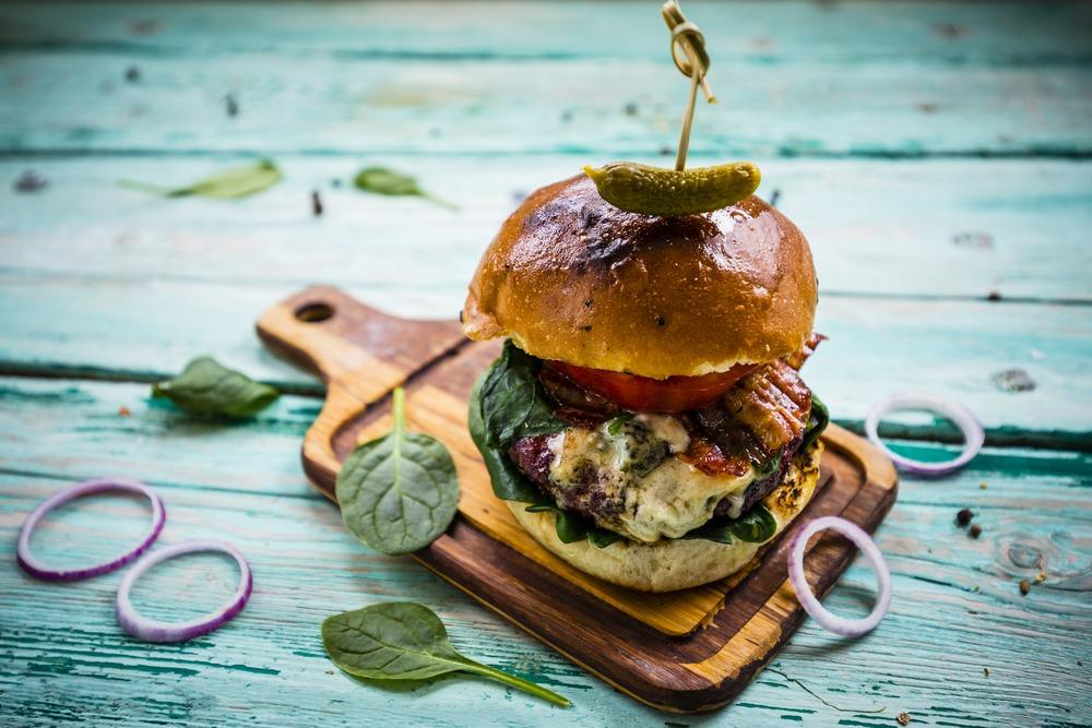 hamburger blauwe kaas